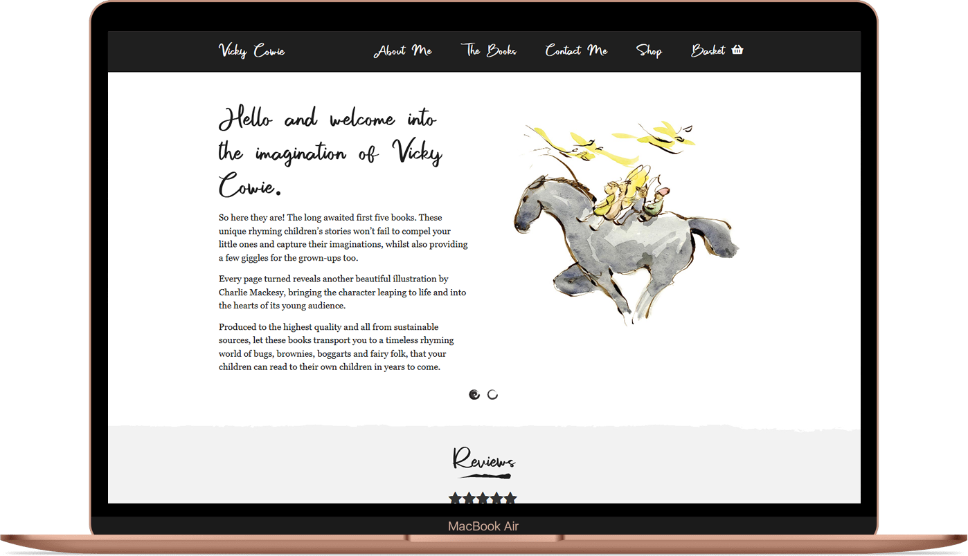 Vicky Cowie - E-Commerce Website