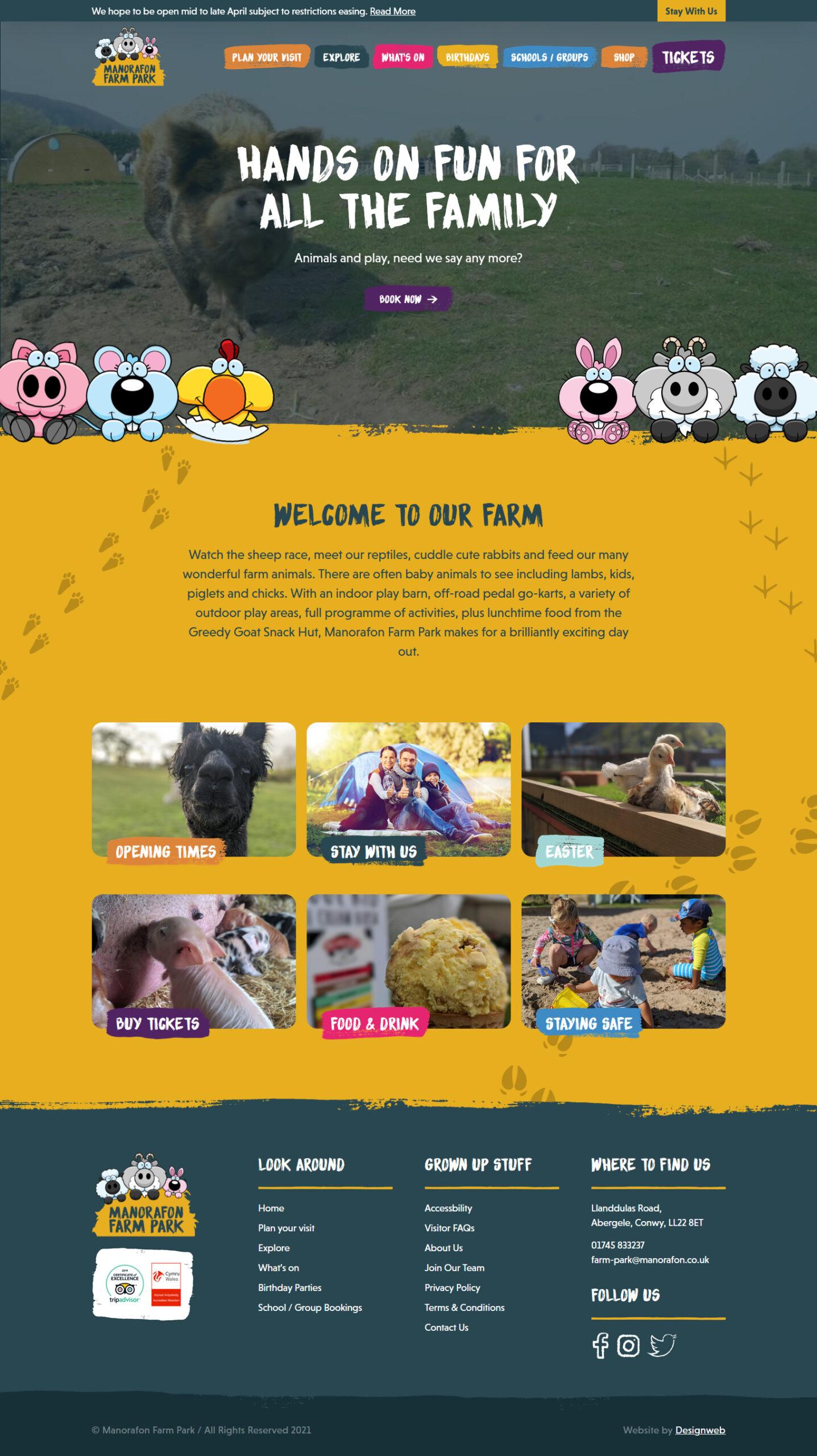 Manorafon Farm Park - Web Design Project by Designweb North Wales